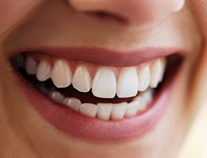 Closeup of healthy attractive smile