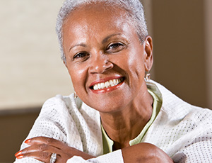Senior woman with whole healthy smile