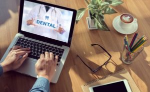 Dental insurance, laptop